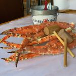 Image of crab legs and hammers