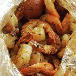Image of seasoned prawns in a bag